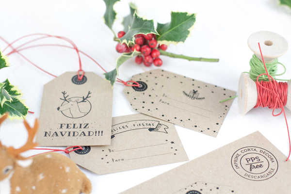 Project Party Blog PPS FREE · ETIQUETAS NAVIDEÑAS - Project Party Blog