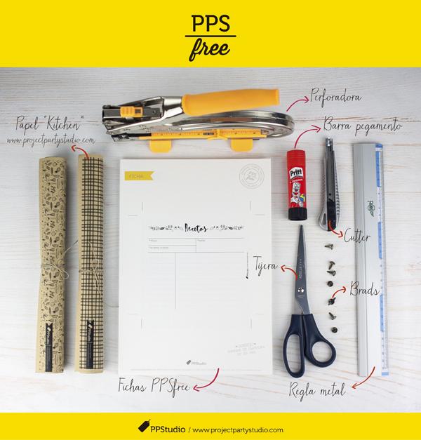 Descargable gratuito de Project Party Studio para que hagas tu propia caja de recetas!