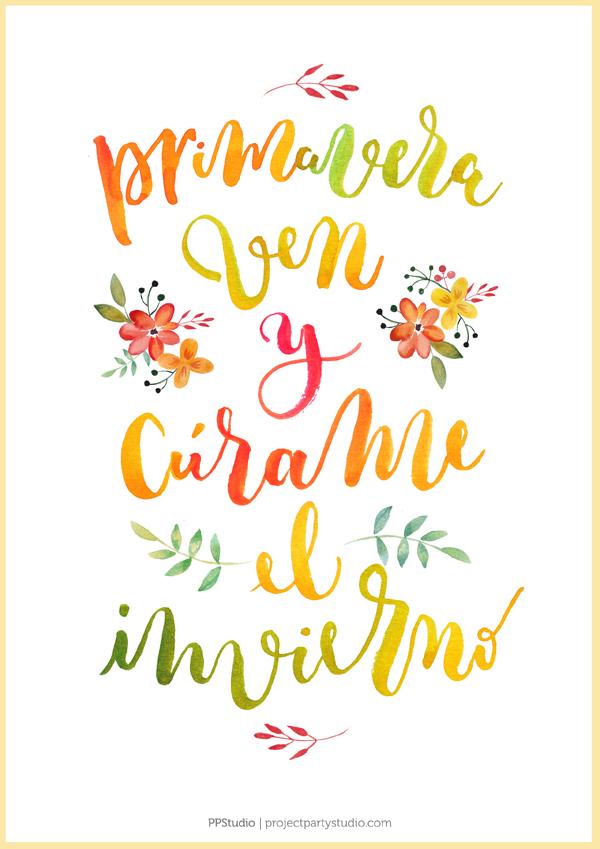 Descargable GRATIS: ¡Feliz Primavera!