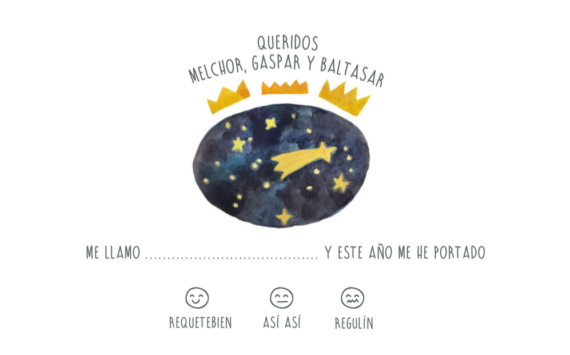 Carta Reyes Magos descargable ¡Free, gratis!