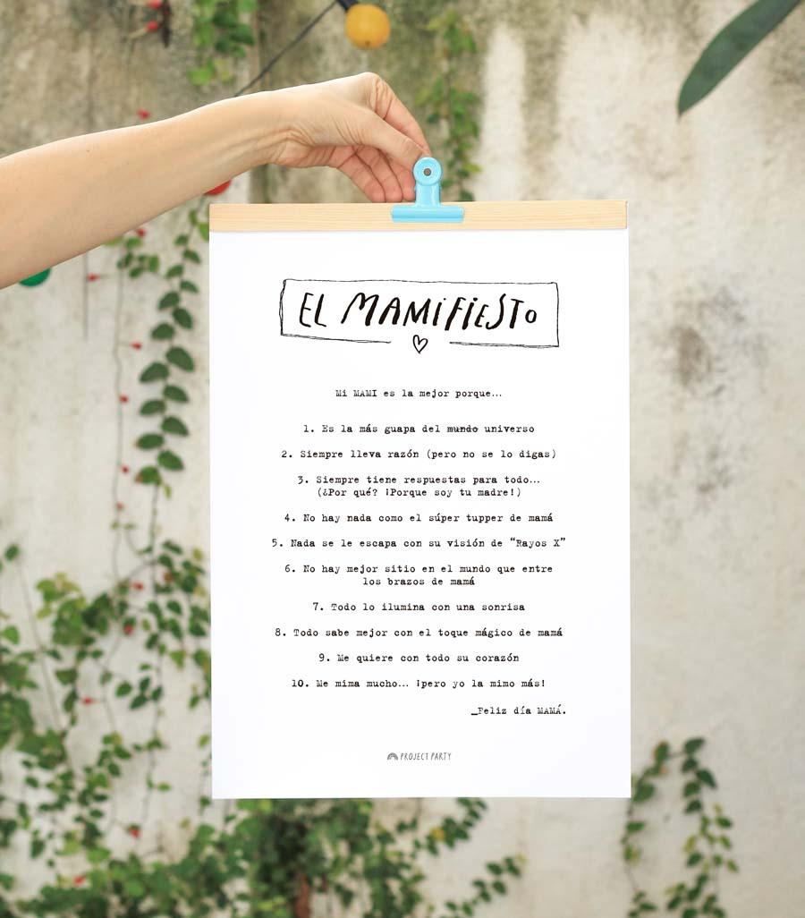 MaMifiesto – Descargable GRATIS para regalar a mamá en el Día de la Madre