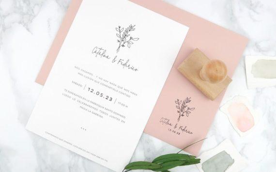 Diseña tu invitación de boda a tu gusto y llévate el sello gratis