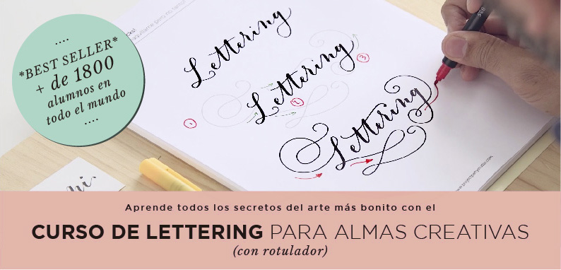 curso online lettering project party