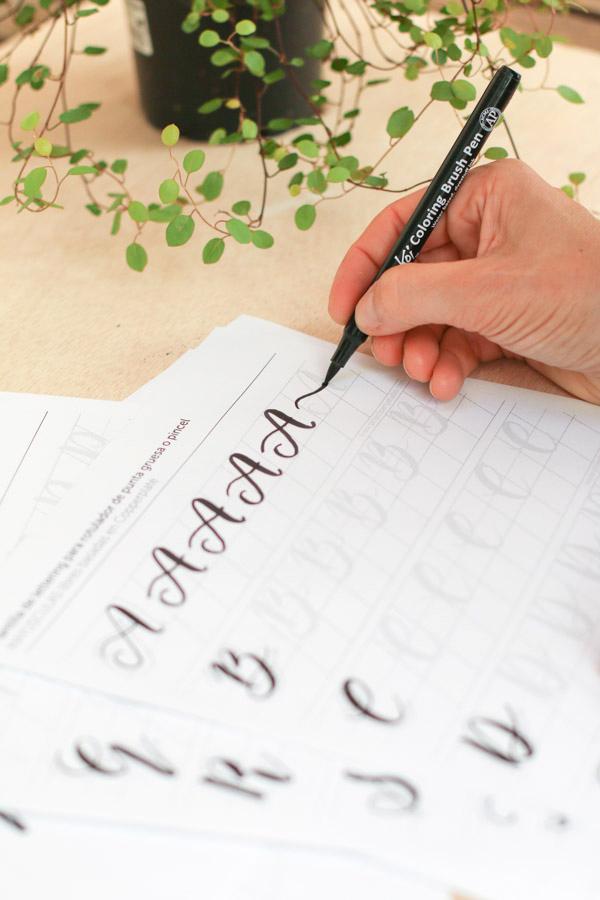 Project Party Blog Plantillas Alfabeto Lettering Gratis | PDF ...