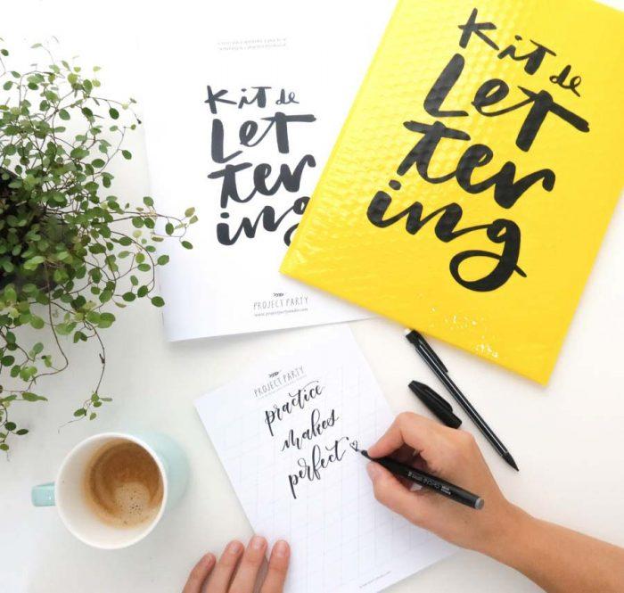 Kit lettering y caligrafía moderna de Project Party Studio