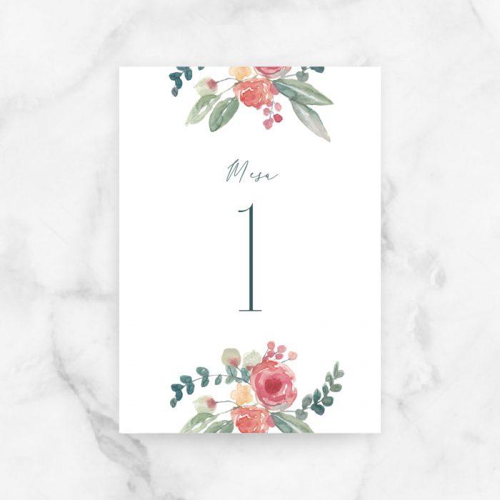 project party numeros mesa boda valentina
