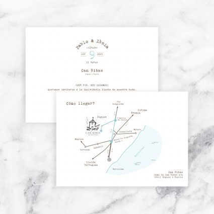 mapa boda