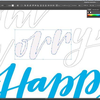 lettering digital curso online project party studio photoshop y illustrator
