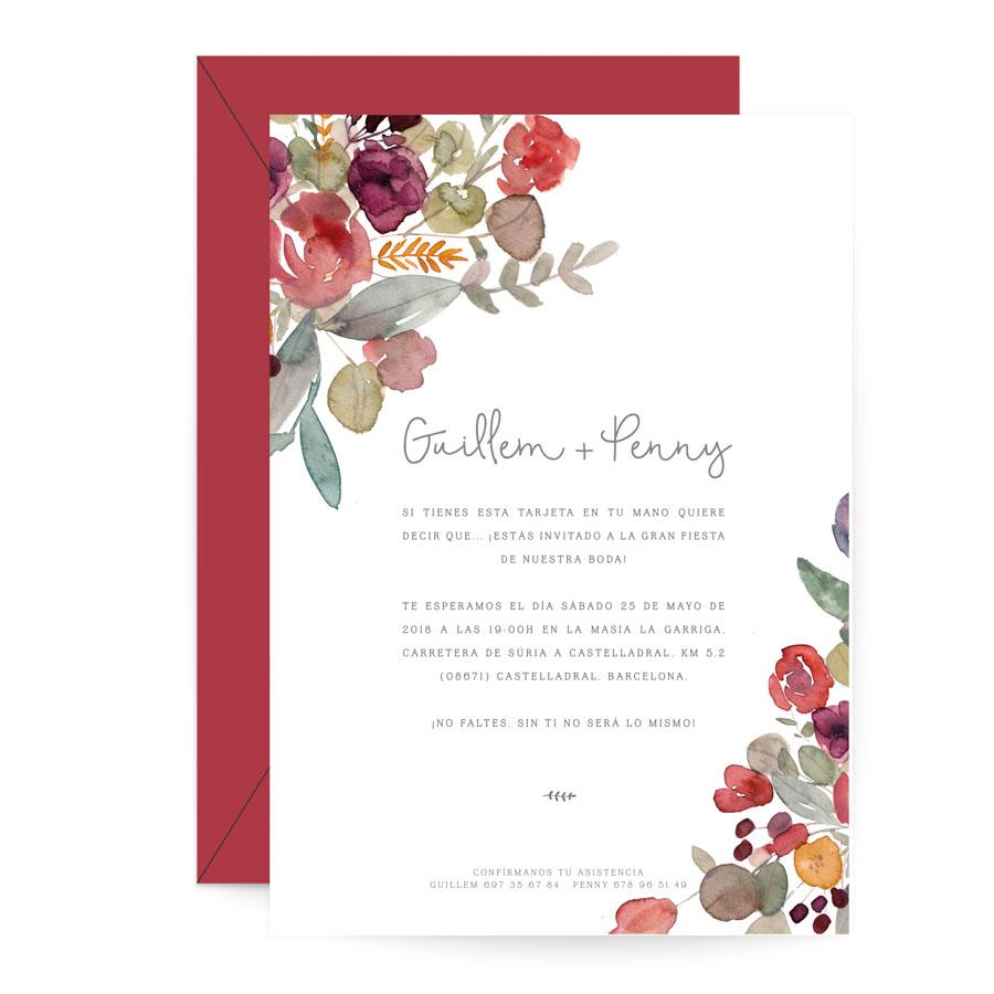 invitación de boda fiorella combinación 3 project party