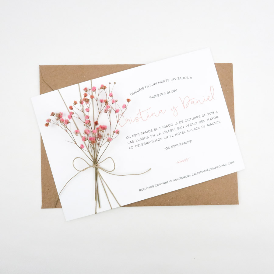 invitaciones de boda con flores modelo melissa project party studio