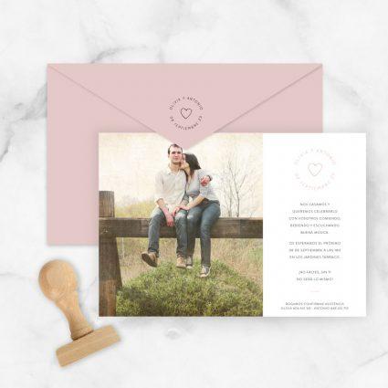 invitaciones de boda originales con foto personalizada