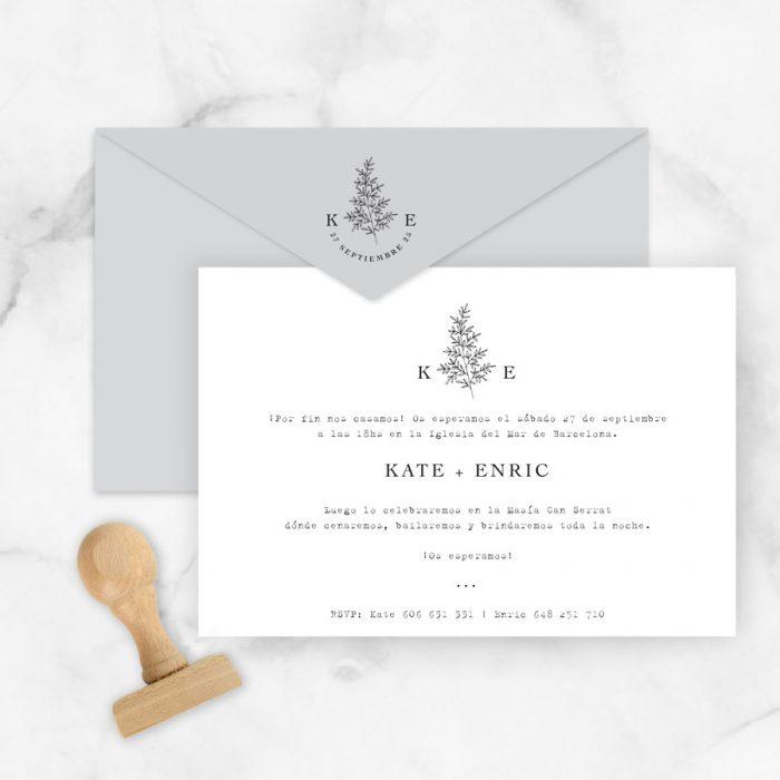 invitaciones de boda originales y clásicas