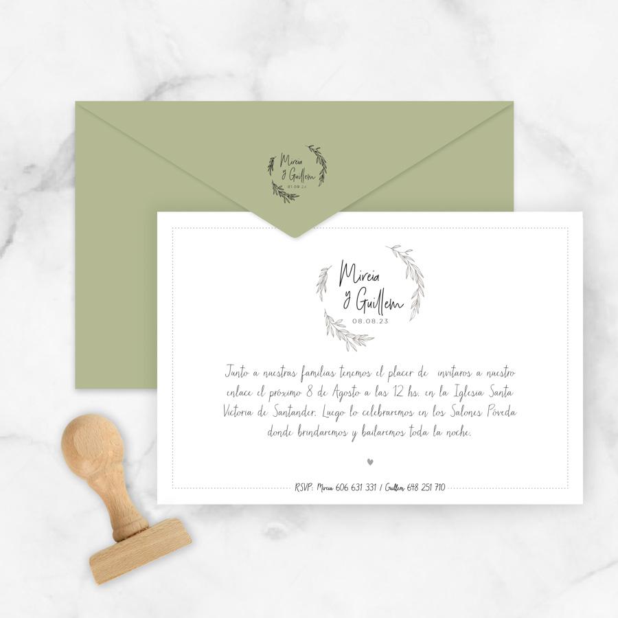 113f5181c9c99 Invitaciones de Boda Originales y Clásicas Amelie