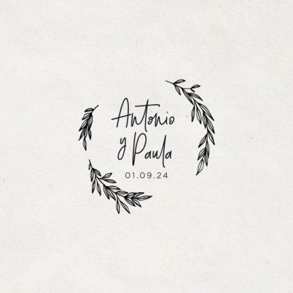 sello de boda de caucho