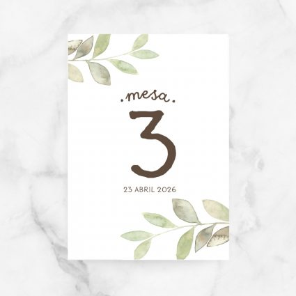 numeros mesa bodas