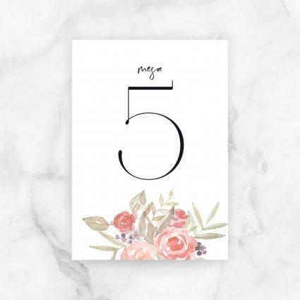 numeros mesa boda