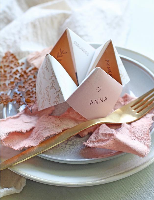 Menú comecocos - invitaciones de boda hechas a mano