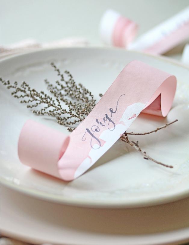 Marcasitio boda lettering - invitaciones de boda hechas a mano
