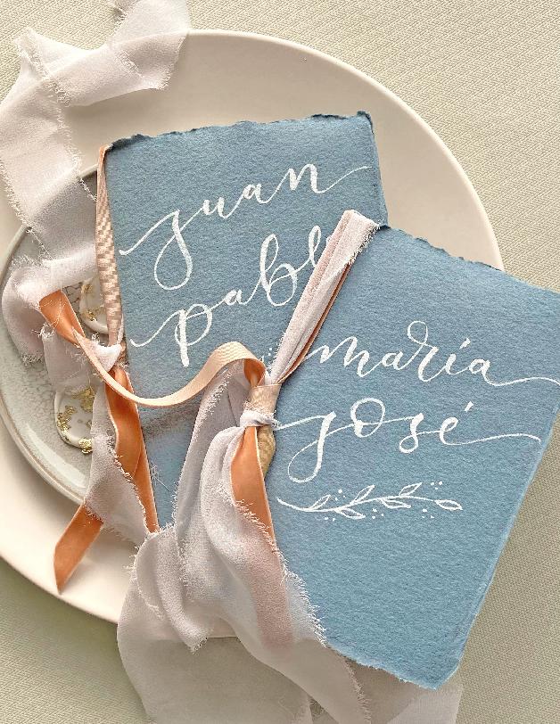 Libro votos lettering - invitaciones de boda hechas a mano